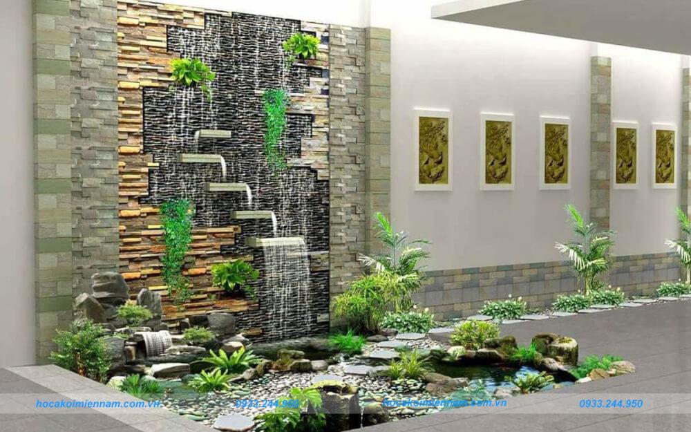 Lưu ý khi thiết kế thi công tường thác nước. Ảnh 4