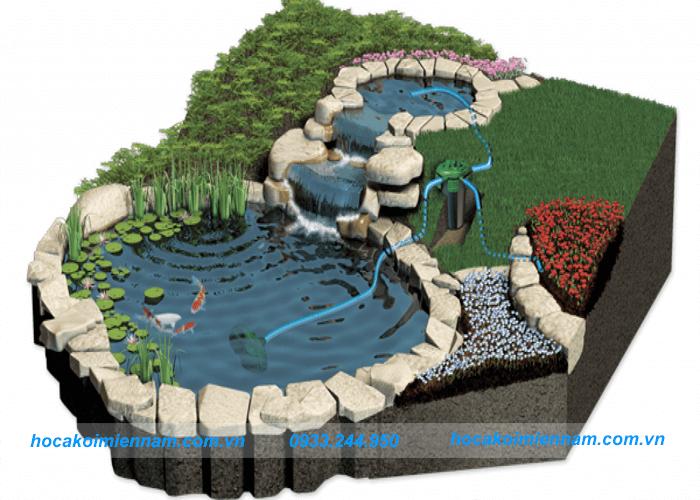 Thi công hồ cá koi - Hệ thống lọc