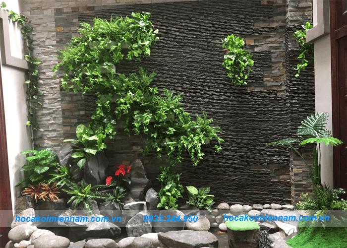 Thi công tiểu cảnh - Tiểu cảnh trên tường