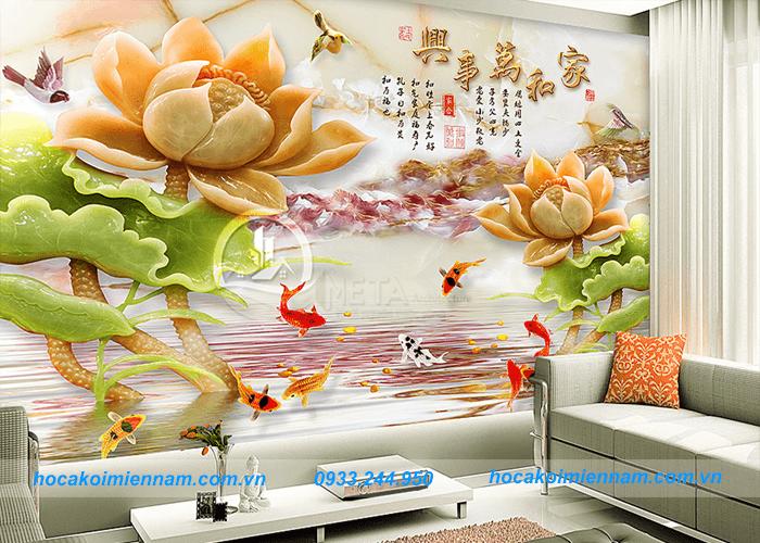 Thiết kế - thi công tranh đá ốp tường - 2