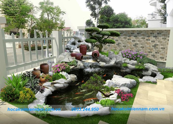 thiết kế hồ cá koi trong nhà và sân vườn: ảnh 1
