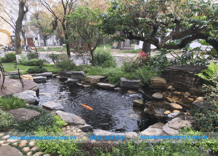 thiết kế hồ cá koi trong nhà và sân vườn: ảnh 2
