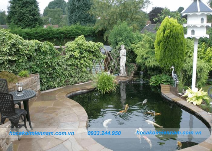 thiết kế hồ cá koi trong nhà và sân vườn: ảnh 4