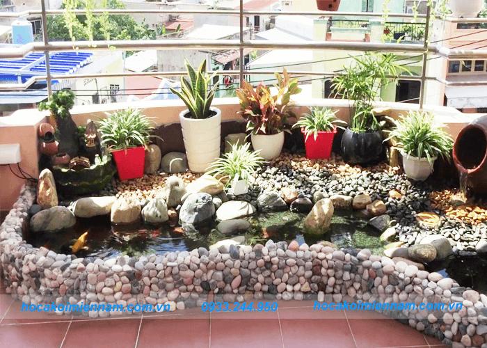 Thiết kế thi công sân vườn tiểu cảnh mini - Ảnh 6