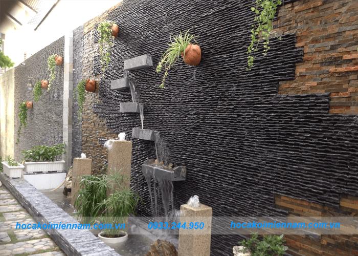 Thiết kế thi công tường thác nước đẹp tại Long An