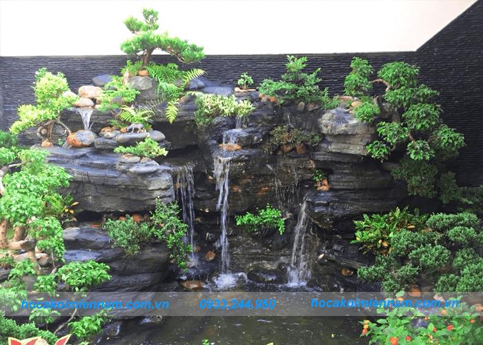 Thiết kế thi công tường thác nước đẹp tại Long An - Tường thác nước bằng đá