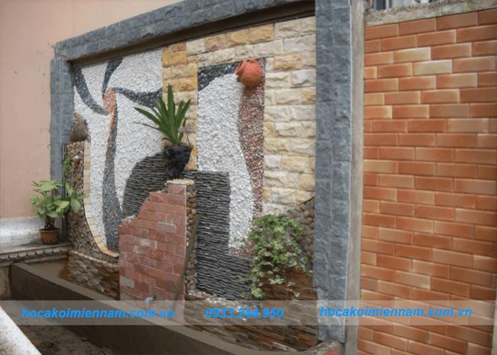 Thiết kế thi công tường thác nước đẹp tại Long An - Tường thác nước bằng gạch