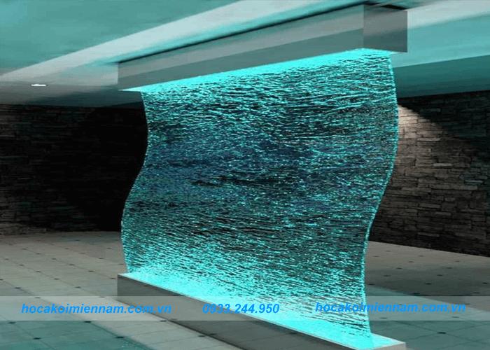 Thiết kế thi công tường thác nước đẹp tại Long An - Tường thác nước bằng thủy tinh