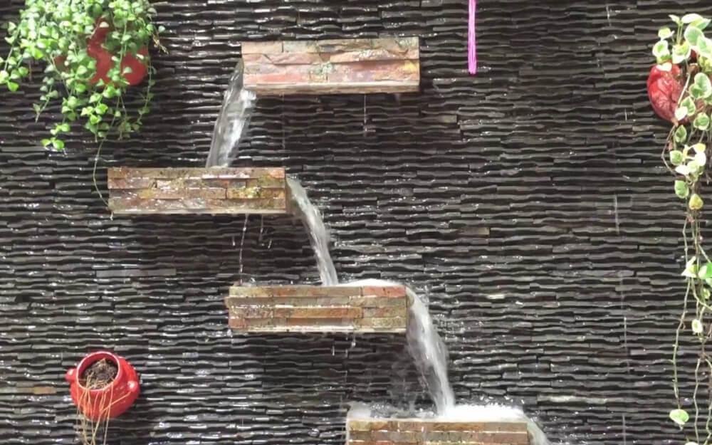 Một số mẫu thác nước trên tường