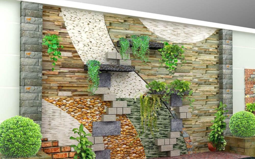 Một số mẫu thác nước trên tường. Ảnh 3