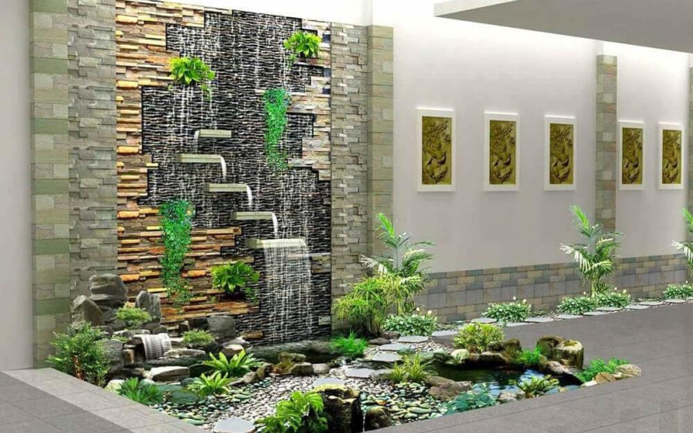 Một số mẫu thác nước trên tường. Ảnh 7