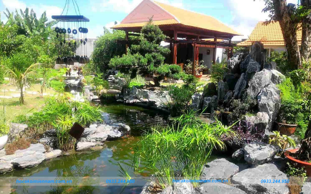 Thi công tiểu cảnh sân vườn tại TPHCM.