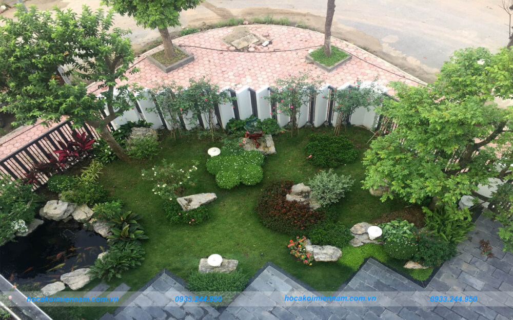 Thiết kế thi công sân vườn tiểu cảnh tại Bình Dương. Ảnh: Sưu tầm