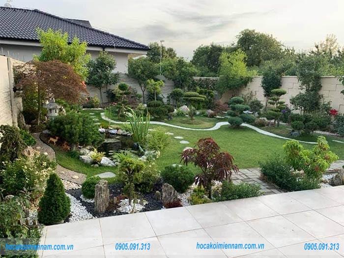 Sân vườn đẹp tại Đồng Nai