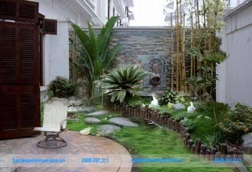 Thiết kế thi công tiểu cảnh sân vườn tại Hóc Môn