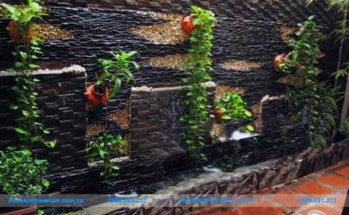 Thi công tường nước tại Đắk Nông. Ảnh 4