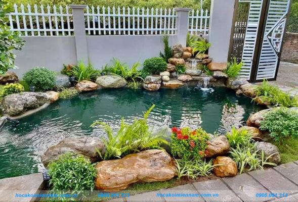 Thi công hồ cá koi sân vườn