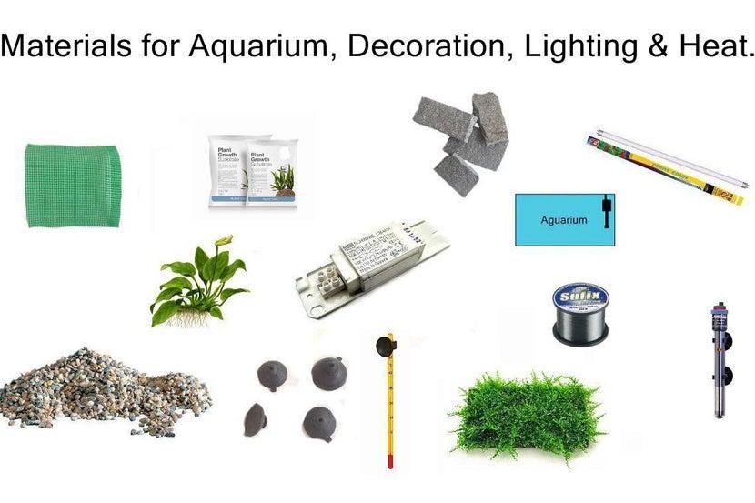 Vật liệu để thi công hồ thủy sinh