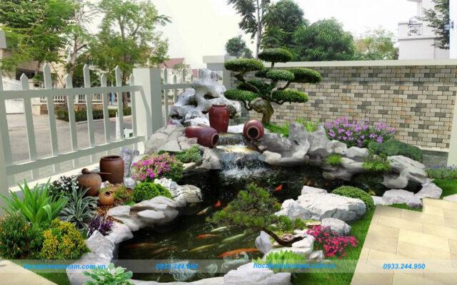 Hồ cá koi sân vườn Tây Ninh