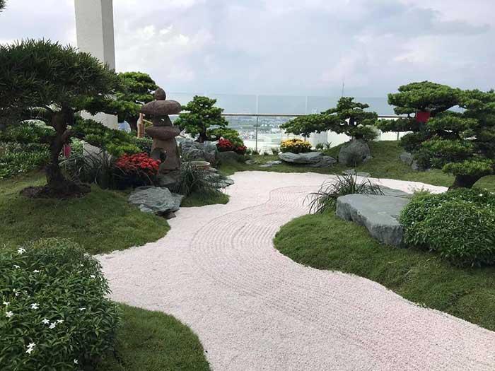Tiểu cảnh sân vườn penthouse - m2