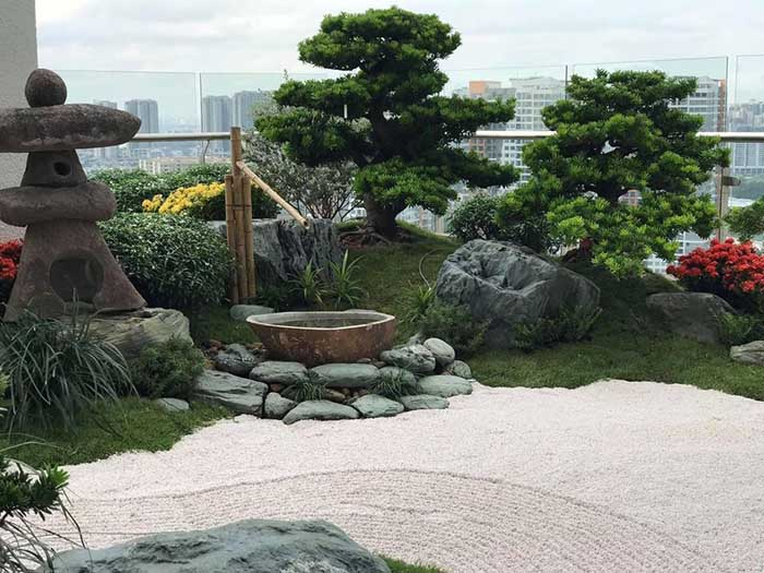 Tiểu cảnh sân vườn penthouse - m3