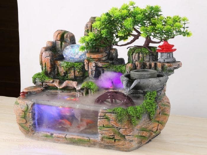 Tiểu cảnh thác nước mini - Hình 7