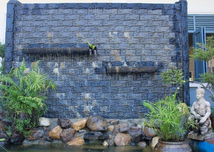 Tiểu cảnh thác nước trên tường 10