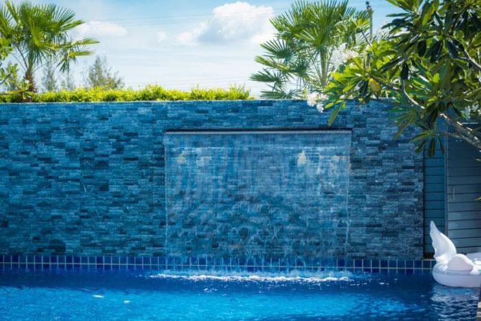 Tiểu cảnh thác nước trên tường 12