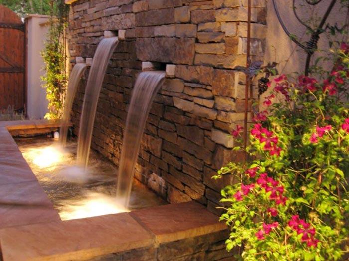 Tiểu cảnh thác nước trên tường 16