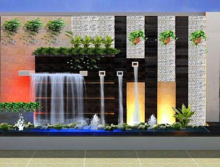 Tiểu cảnh thác nước trên tường 2