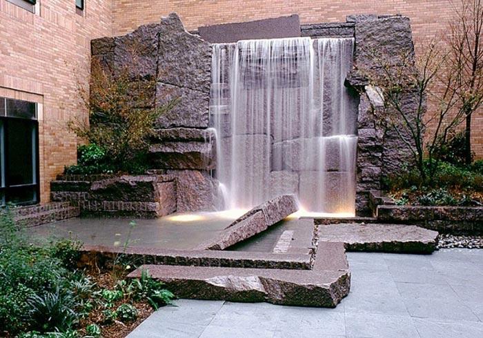 Tiểu cảnh thác nước trên tường 7