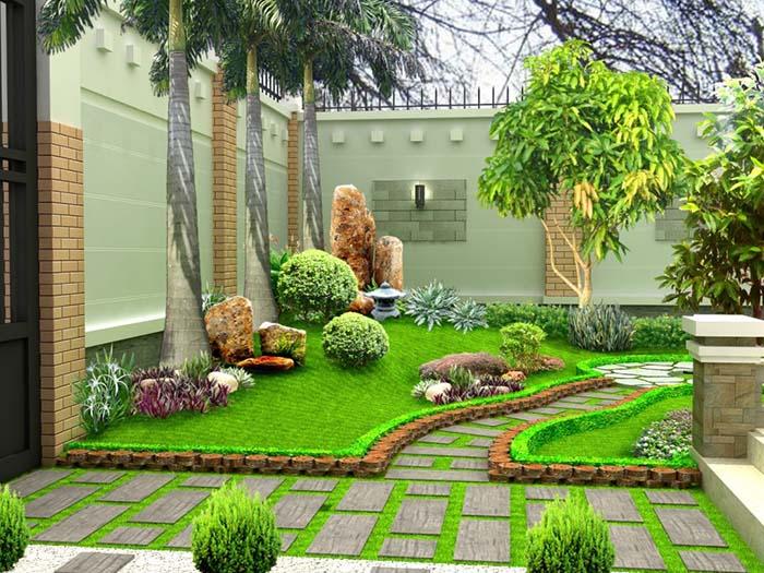 Tiểu cảnh sân vườn đẹp - Hình 1