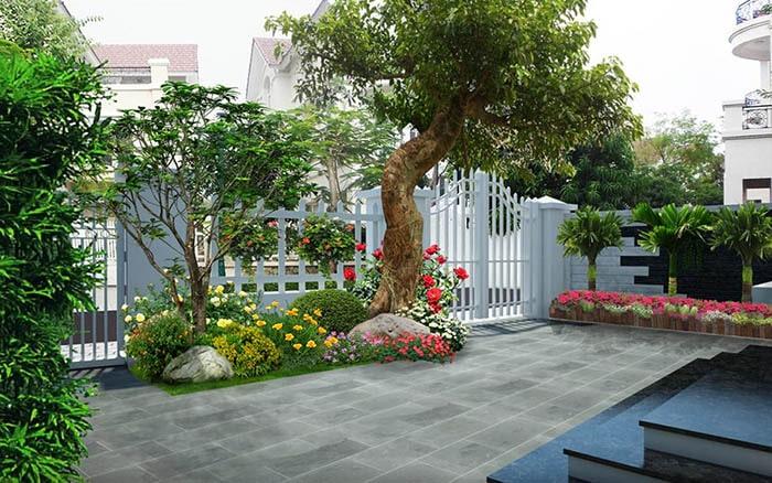Tiểu cảnh sân vườn đẹp - Hình 10