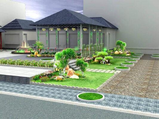 Tiểu cảnh sân vườn đẹp - Hình 13