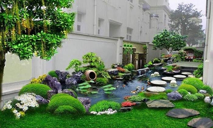Tiểu cảnh sân vườn đẹp - Hình 14