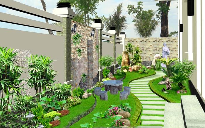 Tiểu cảnh sân vườn đẹp - Hình 3