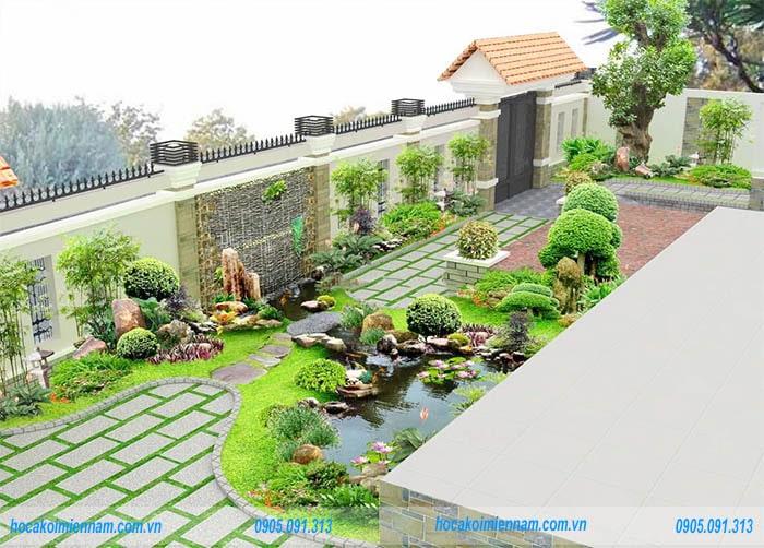 Các lưu ý về thiết kế cảnh quan sân vườn